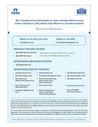 balanced form tata mutual fund common application form equity balanced mis with kim