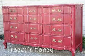 Lingerie chest painted red Furniture Weve Painted Alchemy Fine