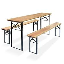 beer garden table. Beer Garden Table Set Oktober, With 2 Benches, Dimensions: 175x46x76cm,