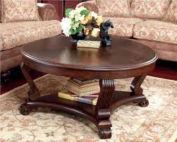... Coffee Table, Remarkable Dark Brown Round Ancient Wooden Carved Wood  Coffee Table With Shelf Designs ...