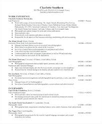 Photography Resume Template Caseyroberts Co