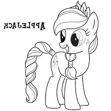 Small Picture Applejack Coloring Pages Little Pony Coloring Pages Applejack