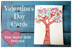 Valentines Day Cards For Boys Homemade Valentines Day Cards For Kids With Fine Motor Skills