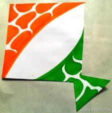 Indian Tri Color Kite Badge Independence Day Wallpaper