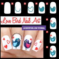 Tutorial: Valentine's Day Love Birds Nail Art & BornPrettyStore ...