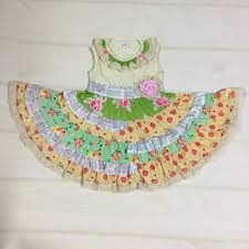 Us 11 46 35 Off Fashion New Design Baby Summer Persnickety Remake Boutique Clothing Ruffle Floral Dress Cotton Princess Patchwork Dresses In