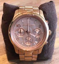 michael kors mk8096 michael kors original mk8096 women s men s runway oversized rose gold watch 45mm