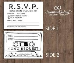 best 25 wedding rsvp ideas on pinterest diy wedding rsvp cards Wedding Invite Rsvp Time size x 5 double sided rsvp cards customized with your wedding rsvp date side rsvp information side cassette tape with song request wedding invite rsvp time