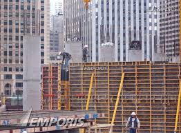 Rebar Chicago Workers Adjusting Formwork And Rebar For The Concrete Core Walls