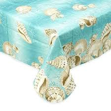 48 inch round vinyl tablecloth seashell border flannel back vinyl umbrella tablecloths with hole and zipper