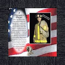 fireman personalized picture frame for firefighter gifts 10x10 6795ch ebay
