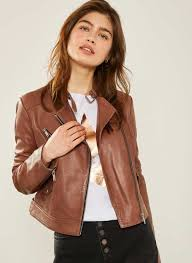 tan leather biker jacket 370 00