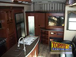 evergreen tesla 3950 fifth wheel toy hauler interior