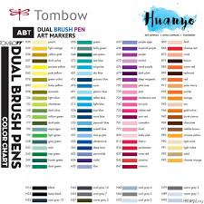 Tombow Dual Brush Pen Orange And Brown Shades 13 Colours