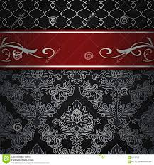 red and black vintage background. Unique And Black Decorative Background With Vintage Floral Patterns And Elegant Red  Border On Red And Vintage Background S