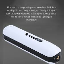 Portable Air Bike Pump <b>Mini Electric Inflator</b> Rechargeable Air Pump ...