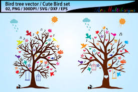 Bird Tree Silhouette Vector Svg Graphic By Arcs Multidesigns Creative Fabrica