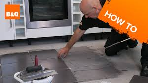 Bq Ceramic Kitchen Floor Tiles How To Tile A Floor Part 2 Laying The Tiles Youtube