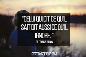 Citation Sur Relation Entre Lhomme Et La Nature De Francis Bacon