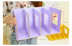 creative wooden desk organizer diy office rack desktop file holder cd book bookshelf