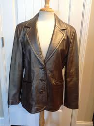 jcpenney worthington womens metallic bronze lambskin leather jacket for in atlanta ga offerup