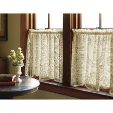 Priscilla Curtains Living Room Heritage Lace Victorian Rose Tier Curtain Reviews Wayfair