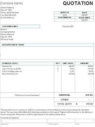 Template For Quotation Letter Quotes Quote Price Doc Google
