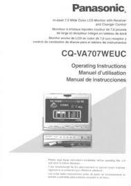 cq va707weuc panasonic car in dash 7 inch lcd monitor dvd receiver manual location