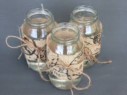 Diy Centrepiece Ideas Glass Jars Decorated With Burlap  Free tutorial with  pictures on how to