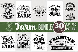 Download free quotes svg files diy projects with these free vectors quotes and graphics includes svg, eps, png and dxf files. Farm Bundle Svg 30 Designs Graphic By Winterwolfesvg Svg Graphic Design Dxf