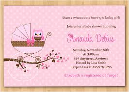 Free Printable Baby Shower Invitations For Girls Free Baby Shower Invitations For Girls Cute Pink Owl Girl
