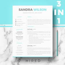 R35 Sandra Wilson Blue Professional Resume Template For Microsoft Word Mac Pages 1 2 3 Page Resume Template Matching Cover Letter