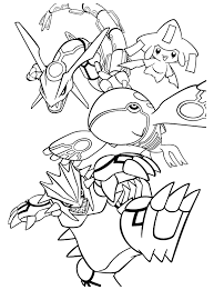 Legendary Pokemon Coloring Pages Rayquaza Part 1 Free Resource