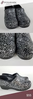 Sanita Shoe Size Conversion Chart Sanita Black Silver Clogs Size 38 7 5 8 Scroll Sanita Clogs