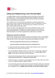 Citing And Referencing In The Harvard Style By Hcare Library Guides