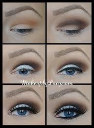 glittery eye makeup tutorial for blue eyes