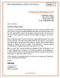 Letter Of Recommendation For Internship Letter Of Recommendation For Internship Sample Kadil