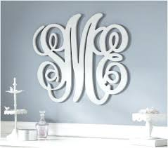 3 letter monogram wall hanging awesome beautiful monogram wall decor gallery wall art ideas dochista info