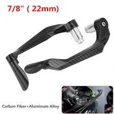 1 Pair <b>Carbon Fiber</b> Motorcycle <b>22mm Handlebar</b> Brake Clutch ...