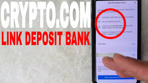 link deposit bank account to crypto