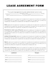 Free Rental Form Generic Lease Agreement Template Rental Form Word Rent Pdf Printable