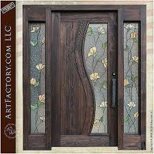wooden front doors with glass steel entry doors glass best stained glass kitchen cabinet doors luxury