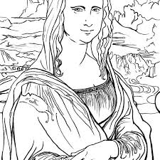 Small Picture Mona lisa coloring page mona lisa coloring page batch coloring new