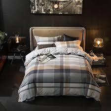 100 cotton bedding set for s teenagers simple plaid duvet cover queen king size comfortable and fashionable cotton bedding set bedding set fashion