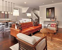 gray walls brown furniture. Eclectic Brown Floor Family Room Photo In Chicago With Gray Walls Furniture N