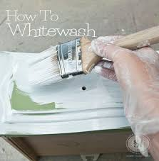 step 4 brush or roll on the paint whitewash furniture diy l42 diy