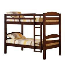 ina twin over twin wood bunk bed
