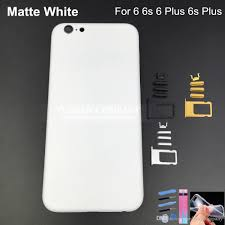 iphone 6 plus white. 2017 matte white housing for iphone 6 plus 6s aluminum alloy replacement parts faceplates with buttons apple metal frame from yushangcompany,