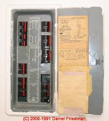 how to identify recognize federal pacific electric fpe stab lok Circuit Breaker Vs Fuse Box photograph of a typical federal pacific electric stab lok® electric panel cover and door circuit breakers vs fuse box