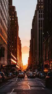 New york iphone wallpaper, Sunset city ...